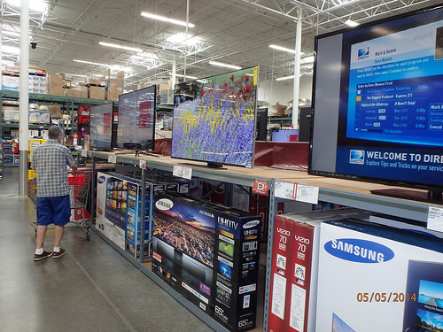 tv costco shopping