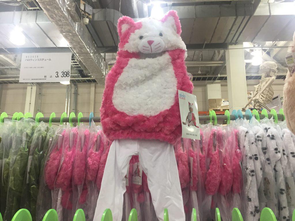 コストコのハロウィン衣装猫