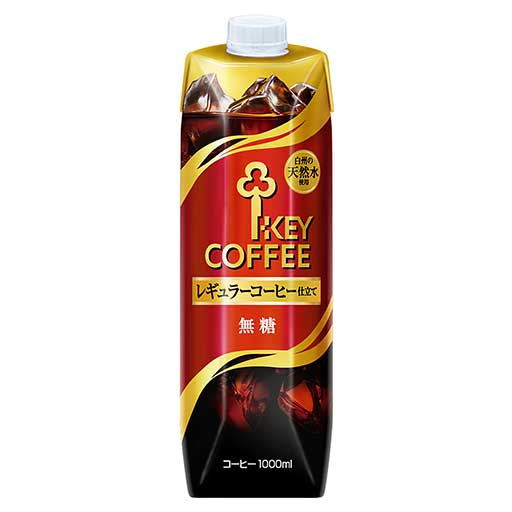 キーコーヒーアイスコーヒー無糖 1L×6本 1,088円コストコ